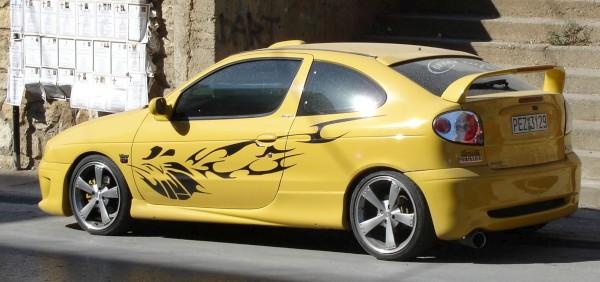 Renault Meganne Saloon Car. Renault Megane Modified
